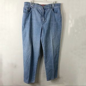 Gloria Vanderbilt Light Blue Mom Jeans Plus 16